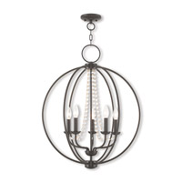 Livex 40915-92 Arabella 5 Light 22 inch English Bronze Chandelier Ceiling Light