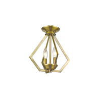 Livex 40922-01 Prism 2 Light 11 inch Antique Brass Mini Chandelier Ceiling Light alternative photo thumbnail