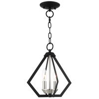 Livex Lighting 40922-04 Prism 2 Light 11 inch Black with Brushed Nickel Cluster Convertible Semi Flush/Pendant Ceiling Light
