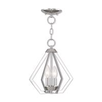 Livex 40922-05 Prism 2 Light 11 inch Polished Chrome Mini Chandelier Ceiling Light