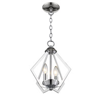 Livex 40922-05 Prism 2 Light 11 inch Polished Chrome Mini Chandelier Ceiling Light alternative photo thumbnail