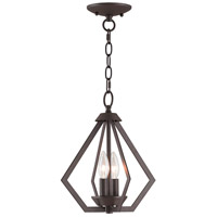 Livex 40922-07 Prism 2 Light 11 inch Bronze Mini Chandelier Ceiling Light