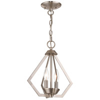 Livex 40922-91 Prism 2 Light 11 inch Brushed Nickel Mini Chandelier Ceiling Light alternative photo thumbnail
