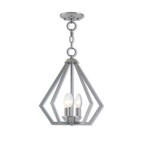 Livex 40923-05 Prism 3 Light 14 inch Polished Chrome Mini Chandelier Ceiling Light