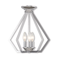 Livex 40923-05 Prism 3 Light 14 inch Polished Chrome Mini Chandelier Ceiling Light alternative photo thumbnail