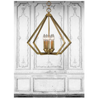 Livex 40925-01 Prism 5 Light 20 inch Antique Brass Chandelier Ceiling Light