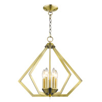 Livex 40925-01 Prism 5 Light 20 inch Antique Brass Chandelier Ceiling Light alternative photo thumbnail