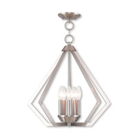 Livex 40925-91 Prism 5 Light 20 inch Brushed Nickel Chandelier Ceiling Light