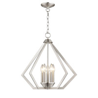 Livex 40925-91 Prism 5 Light 20 inch Brushed Nickel Chandelier Ceiling Light alternative photo thumbnail