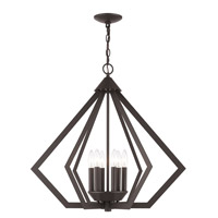 Livex 40926-07 Prism 6 Light 26 inch Bronze Chandelier Ceiling Light