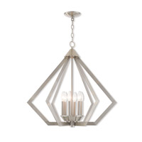 Prism 6 Light 26 inch Brushed Nickel Chandelier Ceiling Light