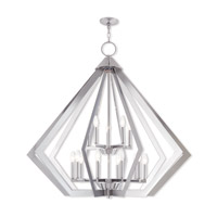 Livex 40928-05 Prism 15 Light 42 inch Polished Chrome Foyer Chandelier Ceiling Light