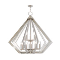 Livex 40928-91 Prism 15 Light 42 inch Brushed Nickel Foyer Chandelier Ceiling Light