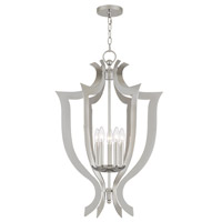 Livex 41004-05 Aldrich 5 Light 21 inch Polished Chrome Lantern Chandelier Ceiling Light