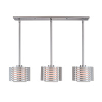 Livex 41033-05 Hilliard 3 Light 37 inch Polished Chrome Linear Chandelier Ceiling Light