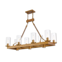 Livex 41068-26 Metuchen 11 Light 44 inch Aged Gold Linear Chandelier Ceiling Light