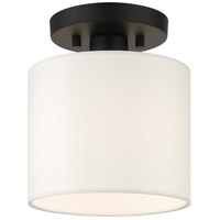 Livex 41094-04 Meridian 1 Light 7 inch Black Semi Flush Ceiling Light