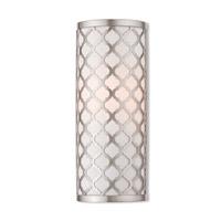 Livex 41100-91 Arabesque 1 Light 5 inch Brushed Nickel ADA Wall Sconce Wall Light