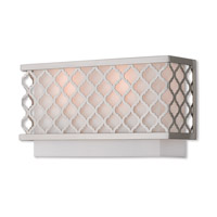Livex 41102-91 Arabesque 2 Light 13 inch Brushed Nickel ADA Wall Sconce Wall Light
