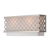 Livex 41103-91 Arabesque 2 Light 16 inch Brushed Nickel ADA Wall Sconce Wall Light
