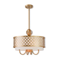 Livex 41104-33 Arabesque 5 Light 18 inch Soft Gold Pendant Chandelier Ceiling Light
