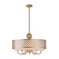 Livex 41105-33 Arabesque 6 Light 24 inch Soft Gold Pendant Chandelier Ceiling Light