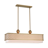 Arabesque 9 Light 40 inch Soft Gold Linear Chandelier Ceiling Light