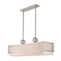 Arabesque 9 Light 40 inch Brushed Nickel Linear Chandelier Ceiling Light