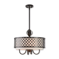 Livex 41115-92 Arabesque 5 Light 18 inch English Bronze Pendant Chandelier Ceiling Light