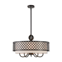 Livex 41116-92 Arabesque 6 Light 24 inch English Bronze Pendant Chandelier Ceiling Light