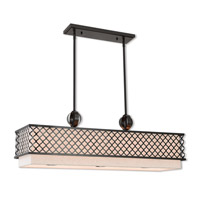 Arabesque 9 Light 40 inch English Bronze Linear Chandelier Ceiling Light
