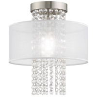 Livex 41124-91 Bella Vista 1 Light 11 inch Brushed Nickel Ceiling Mount Ceiling Light