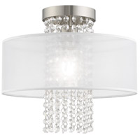 Livex 41125-91 Bella Vista 1 Light 13 inch Brushed Nickel Ceiling Mount Ceiling Light