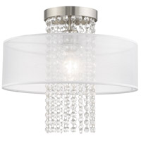 Livex 41126-91 Bella Vista 1 Light 15 inch Brushed Nickel Flush Mount Ceiling Light