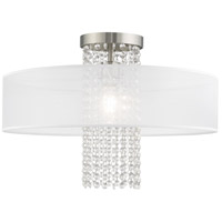 Livex 41127-91 Bella Vista 1 Light 20 inch Brushed Nickel Flush Mount Ceiling Light