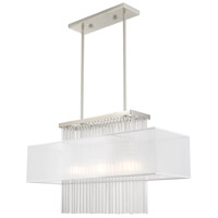 Livex 41143-91 Alexis 3 Light 30 inch Brushed Nickel Linear Chandelier Ceiling Light alternative photo thumbnail