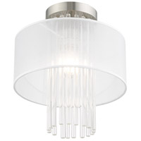 Livex 41144-91 Alexis 1 Light 11 inch Brushed Nickel Flush Mount Ceiling Light alternative photo thumbnail