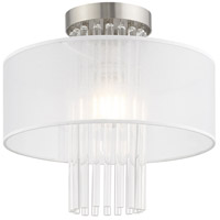 Livex 41145-91 Alexis 1 Light 13 inch Brushed Nickel Flush Mount Ceiling Light alternative photo thumbnail