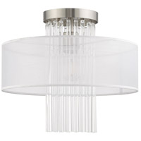 Livex 41146-91 Alexis 1 Light 15 inch Brushed Nickel Flush Mount Ceiling Light alternative photo thumbnail