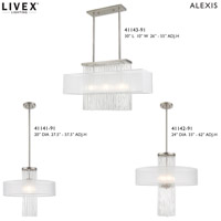 Livex 41147-91 Alexis 1 Light 20 inch Brushed Nickel Flush Mount Ceiling Light alternative photo thumbnail
