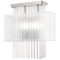 Livex 41148-91 Alexis 2 Light 13 inch Brushed Nickel ADA Wall Sconce Wall Light