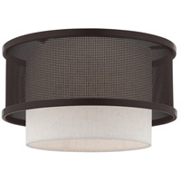 Livex 41207-07 Braddock 1 Light 12 inch Bronze Flush Mount Ceiling Light