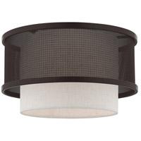 Livex 41207-07 Braddock 1 Light 12 inch Bronze Flush Mount Ceiling Light