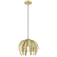 Livex 41231-28 Acanthus 1 Light 13 inch Winter Gold Mini Pendant Ceiling Light