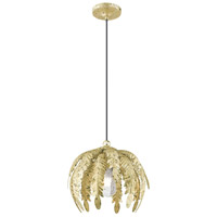 Livex 41231-28 Acanthus 1 Light 13 inch Winter Gold Mini Pendant Ceiling Light alternative photo thumbnail