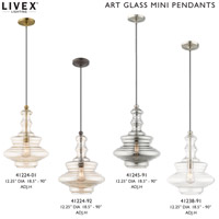 Livex Lighting 41238-91 Allison 1 Light 12 inch Brushed Nickel Mini Pendant Ceiling Light alternative photo thumbnail