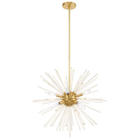Livex 41256-12 Utopia 8 Light 26 inch Satin Brass Pendant Chandelier Ceiling Light