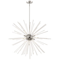 Livex 41258-05 Utopia 8 Light 34 inch Polished Chrome Pendant Chandelier Ceiling Light