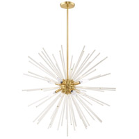 Livex 41258-12 Utopia 8 Light 34 inch Satin Brass Pendant Chandelier Ceiling Light