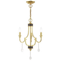 Livex 41273-02 Glendale 3 Light 14 inch Polished Brass Mini Chandelier Ceiling Light